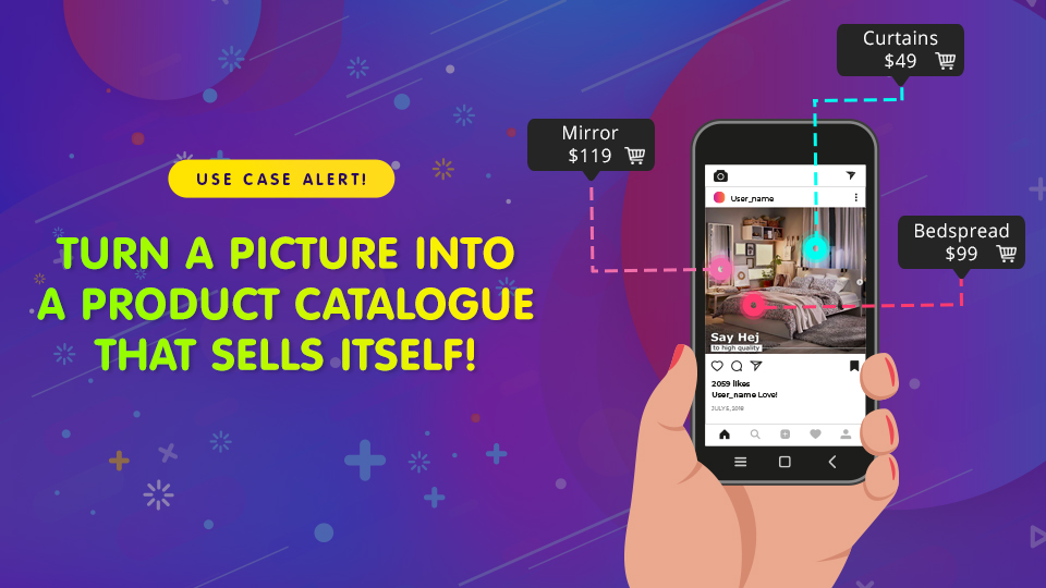 Turn a picture into a product catalogue that sells itself!