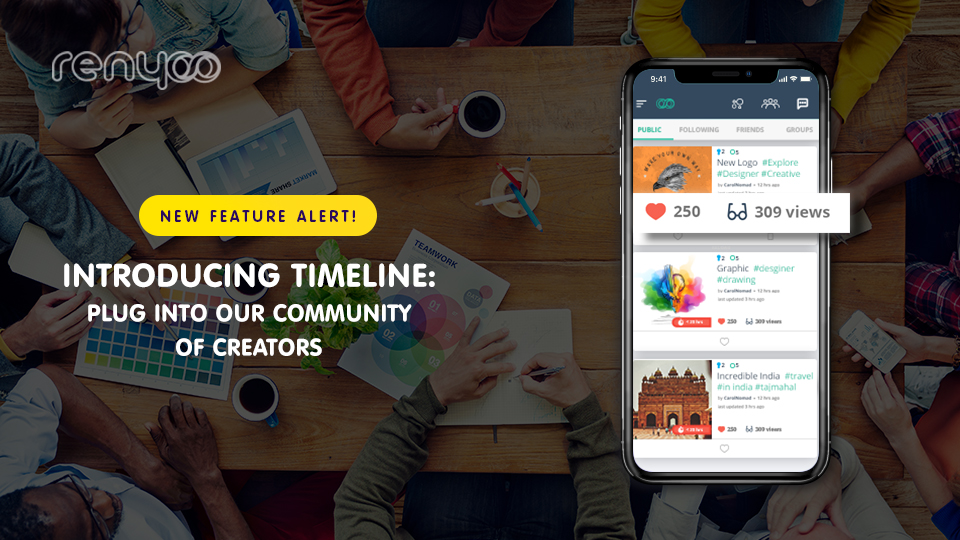 Introducing Timeline: Follow and track creative projects you love.
